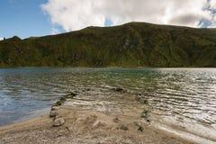Il paesaggio panoramico del lLagoa fa Fogo in Azzorre Fotografia Stock Libera da Diritti