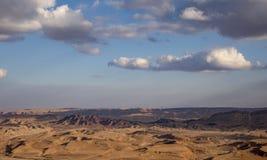 Il paesaggio in Ramon Crater, Israele immagine stock libera da diritti