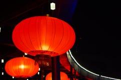 Il paesaggio rosso di notte della lanterna Fotografia Stock Libera da Diritti