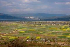 Il paesaggio rurale della provincia di Yunnan della Cina Fotografia Stock