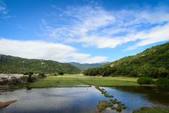 Il paesaggio rurale in Phan ha suonato, il Vietnam fotografia stock