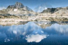 Il paesaggio in Sierra Nevada, si raddoppia esposto Fotografie Stock Libere da Diritti