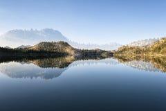 Il paesaggio in Sierra Nevada, si raddoppia esposto Immagini Stock