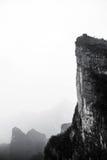 Il paesaggio sotto la montagna di Tianmenshan immagini stock libere da diritti