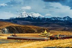 Il paesaggio tibetano Fotografia Stock
