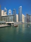 Il paesaggio urbano del porticciolo del Dubai Fotografia Stock