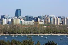 Il paesaggio urbano di Pechino Fotografia Stock