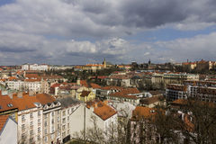 Il paesaggio urbano di Praga immagini stock libere da diritti
