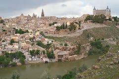 Il paesaggio urbano di vecchio Toledo Immagini Stock