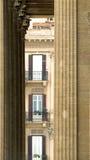 Il paesaggio urbano dietro l'opera Fotografia Stock
