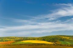 Il paesaggio variopinto di autunno della montagna Immagini Stock Libere da Diritti