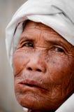 Il paesano della tribù della collina nel villaggio di povertà. Immagini Stock