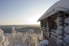 Il paese delle meraviglie di inverno della Lapponia Fotografia Stock
