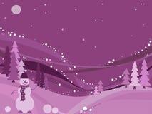 Il paese delle meraviglie di inverno, vettore Royalty Illustrazione gratis
