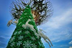 Il paese delle meraviglie di Natale ai giardini dalla baia Fotografia Stock Libera da Diritti