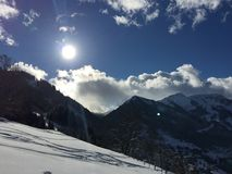 Il paese delle meraviglie Francia di inverno Fotografia Stock