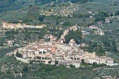 Il paese di Montefranco Fotografia Stock