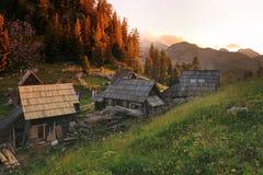 Il paesino di montagna Immagine Stock