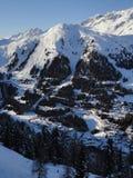 Il paesino di montagna del arlberg Tirolo del st-anton Immagini Stock