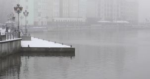 Il paesino di pescatori di Kaliningrad stock footage