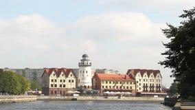 Il paesino di pescatori di Kaliningrad Russia video d archivio