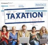 Il pagamento ha ricevuto il concetto di tempo di imposta di tasse Immagine Stock