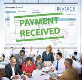 Il pagamento ha ricevuto il concetto di tempo di imposta di tasse Immagini Stock Libere da Diritti