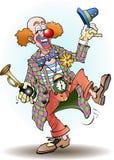 Il pagliaccio di circo accoglie Immagini Stock Libere da Diritti
