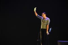 Il pagliaccio dice ciao- l'identità del dramma di ballo di mistero-tango Fotografia Stock Libera da Diritti