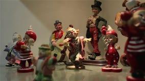 Il pagliaccio Figures Set stock footage