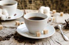 Il paio foggia a coppa il ceppo del caffè Fotografia Stock