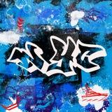Il paitn multicolore di stile dei graffiti di New York City di progettazione di lerciume spazzola il fondo urbano dell'artista de immagini stock