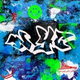 Il paitn multicolore di stile dei graffiti di New York City di progettazione di lerciume spazzola il fondo urbano dell'artista de fotografia stock