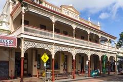 Il Palace Hotel archectural a filigrana di stile di federazione, Childers, Queensland, Australia fotografie stock libere da diritti