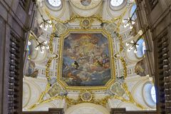 Il Palacio de reale Madrid (Royal Palace) Fotografia Stock Libera da Diritti