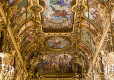Il Palais Garnier, opera di Parigi, interni e dettagli Immagine Stock