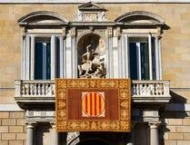 Il Palau de la Generalitat de Catalunya Immagine Stock