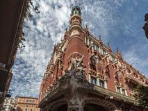 Il Palau de La Musica Catalana Fotografia Stock