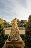 Il Palau de Pedralbes Statue da dietro Fotografie Stock Libere da Diritti