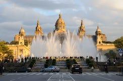 Il Palau Nacional a Barcellona Fotografia Stock Libera da Diritti