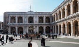 Il palazzo apostolico del santuario di Loreto immagine stock