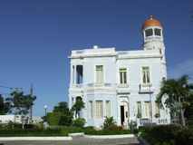 Il palazzo blu, Cienfuegos Immagine Stock