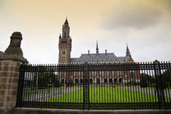 Il Palazzo della Pace - corte internazionale di giustizia a L'aia, Immagini Stock