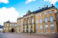 Il palazzo di Amalienborg, Copenhaghen, Danimarca immagini stock libere da diritti