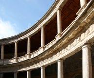 Il palazzo di Carlos 5 a Alhambra Fotografie Stock