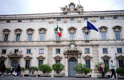 Il palazzo di Consulta a Roma Fotografia Stock Libera da Diritti