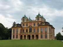 Il palazzo di estate reale in Ludwigsburg immagini stock libere da diritti