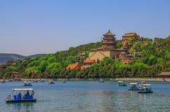 Il palazzo di estate sbalorditivo di Pechino, Cina fotografia stock libera da diritti