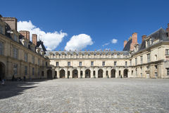 Il palazzo di Fontainebleau, Francia Fotografie Stock Libere da Diritti