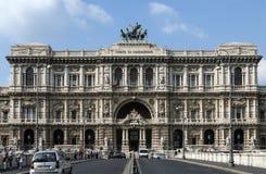 Il palazzo di giustizia, sedile del Corte Suprema Di Cassazione a Roma, Italia Fotografie Stock